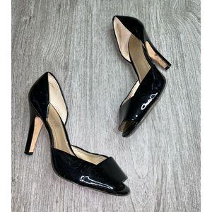 Aldo Shoes Patent Leather Open Toe HEEL Shoes